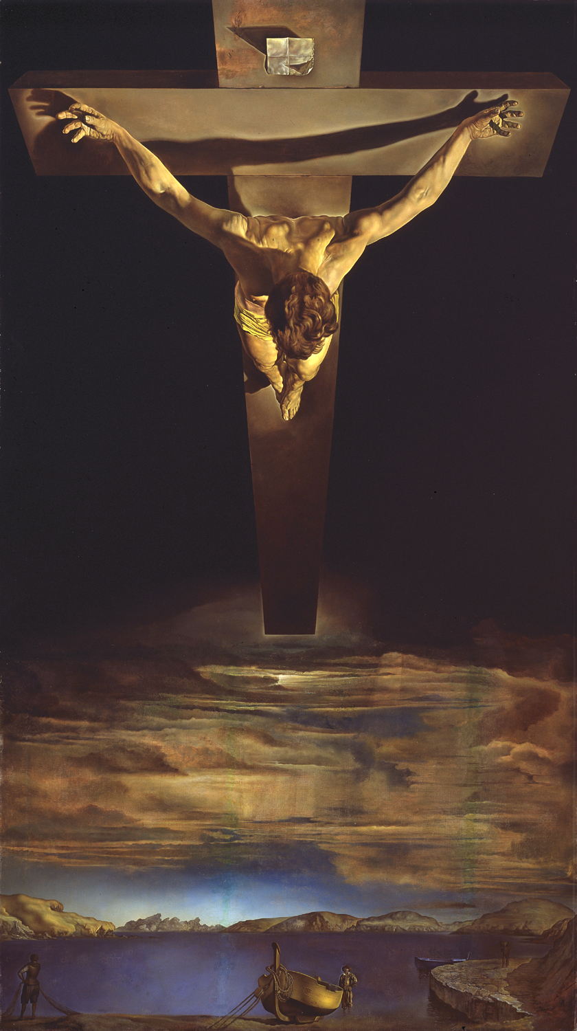 Salvador Dali - Christ of St John of the Cross, 1951, Glasgow's Kelvingrove Art Gallery