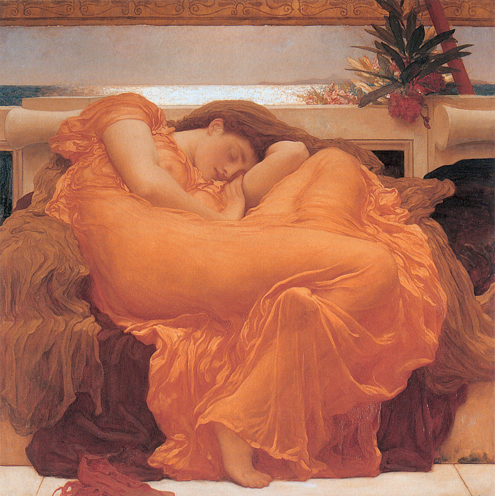 Frederic Leighton, Flaming June 1895, Oil on canvas, Museo de Arte de Ponce, Ponce, Puerto Rico