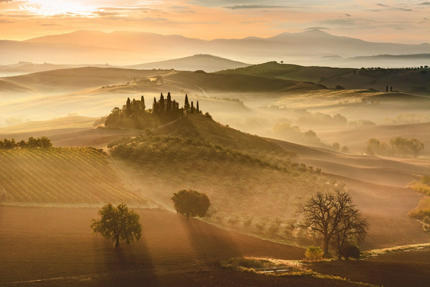 giovanni modesti golden sunrise tuscany