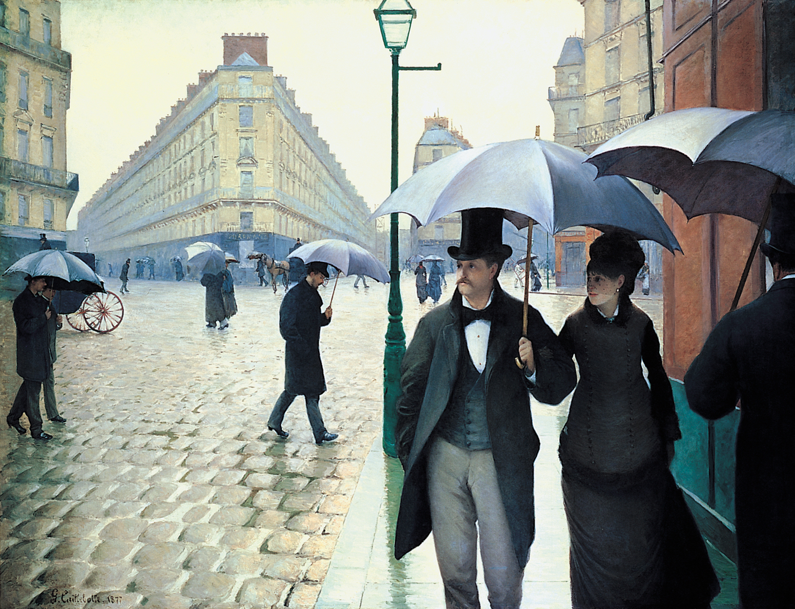 Gustave Caillebotte, Rue de Paris, Temps de Pluie, 1877, Art Institute of Chicago