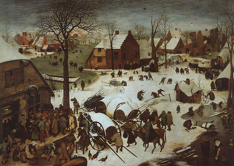 Pieter Bruegel the Elder, The Census at Bethlehem 1566, Royal Museums of Fine Arts of Belgium