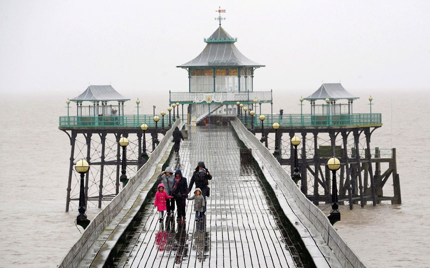 Victorian pier at Clevedon, Somerset, photo by Tim Ireland/PA